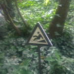 DO NOT WALK ON THIS SLOPE OR YOU WILL SLIP.  AND DIE.