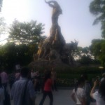 The Five Rams/Goats of Guangzhou!  Also, so many tourists, wtf.