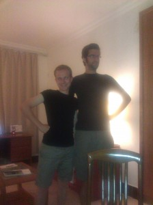 Our friend, the Magnificent Mr. Bock, showed up wearing the same outfit as me!