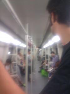 Oh lookie!  Me on the Metro!