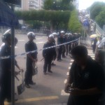 Some of the police line.