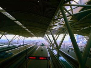 Overlooking the platforms