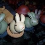 Ceramic bunnies!